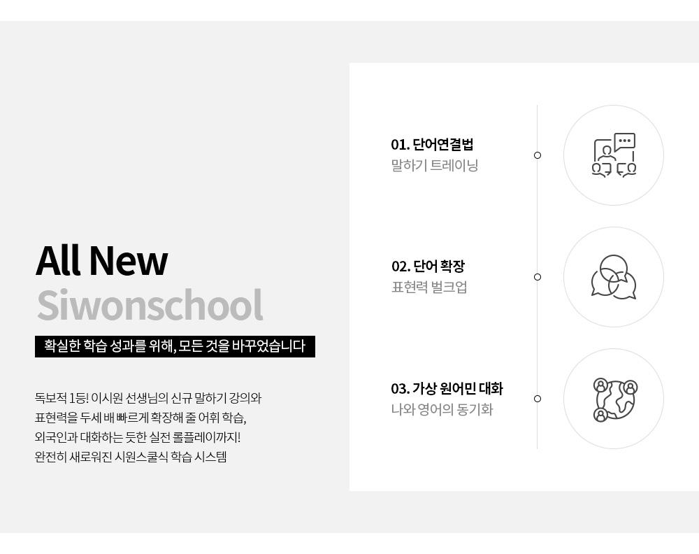 ALL NEW Siwonschool 확실한 학습 성과를 위해, 모든 것을 바꾸었습니다.