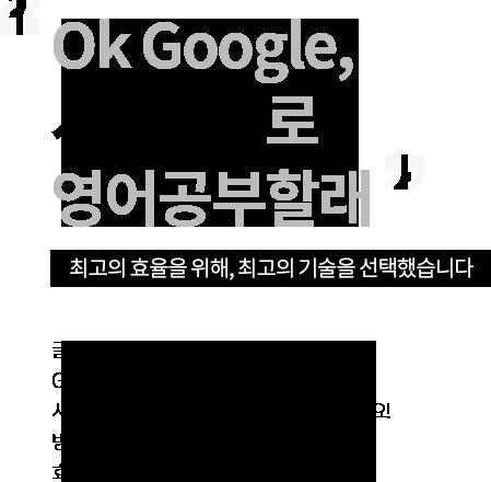 Ok Google, 시원스쿨로 영어공부할래. 최고의 효율을 위해, 최고의 기술을 선택했습니다.